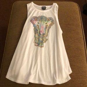 Boho Print Elephant Tank